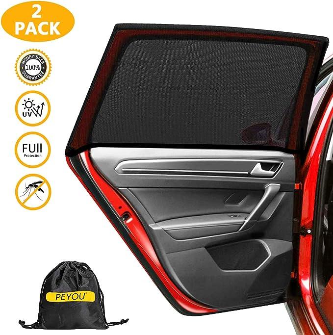 Peace Design Universal Fit Retractable Auto Windshield Sunshade 19 Inch