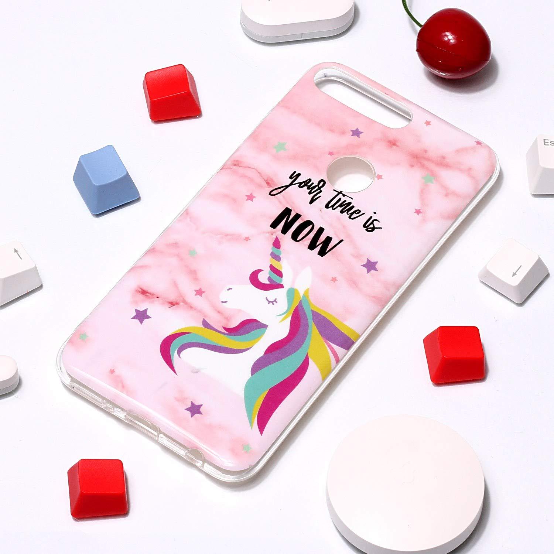 Huawei Y7 2018 - NEYHU240671#11 Schutz Handy H/ülle Handytasche HandyH/ülle Sto/ßfest Kratzfest Etui Schale Schutzh/ülle Weich Bumper Case Cover f/ür Huawei Y7 H/ülle Silikon NEXCURIO 2018