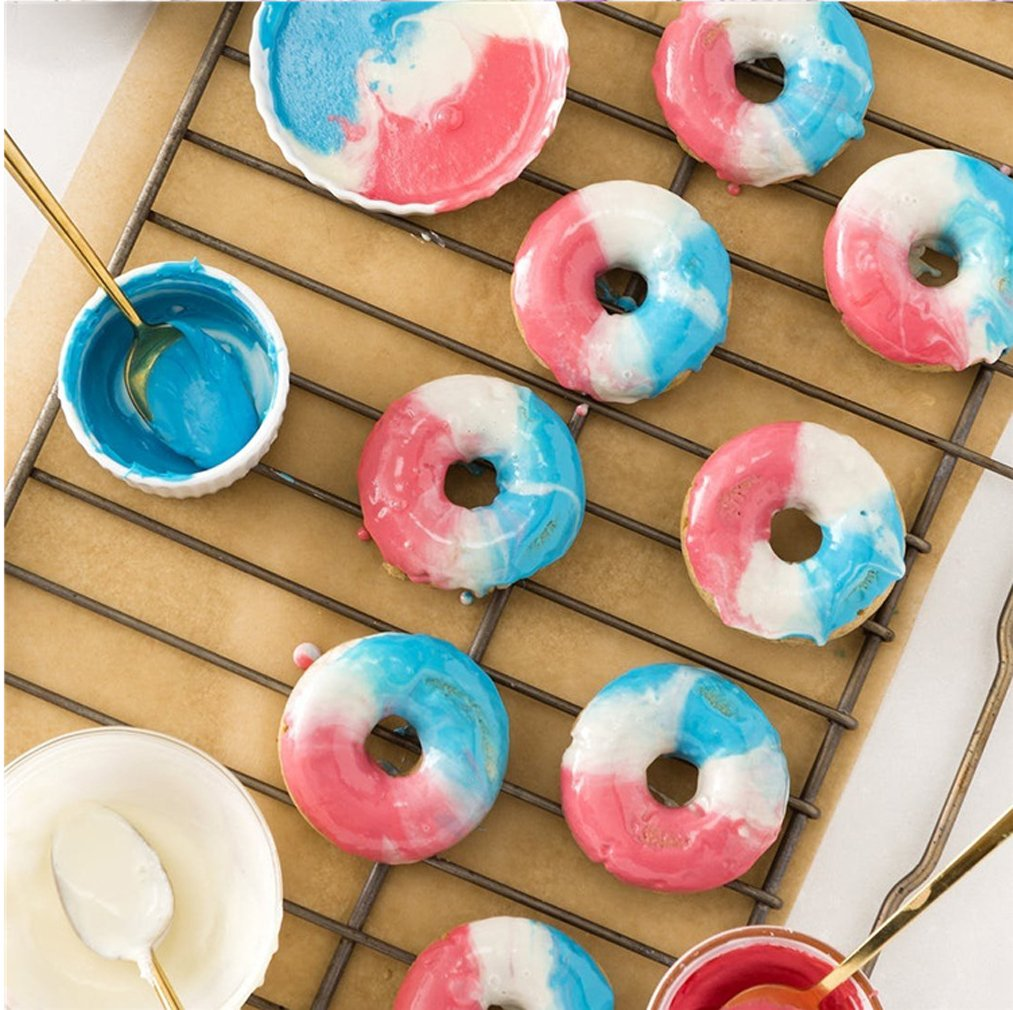 Kisweet 2-Pack Donut Baking Pan Non-Stick Donut Molds 6-Cavity Bake Tray by Kisweet (Image #5)