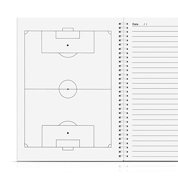 Football Coaching Play Book and Scorebook with 1 Scoring and 3 Strategy Formulation Templates Coaches' & Referees' Gear AGPTEK Soccor Notebook