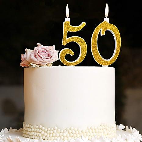 Candeline Maxi 50 Anni Per Torta Festa Compleanno Matrimonio 50