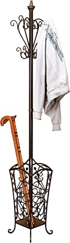 Deco 79 Metal Coat Rack, 74 by 11-Inch