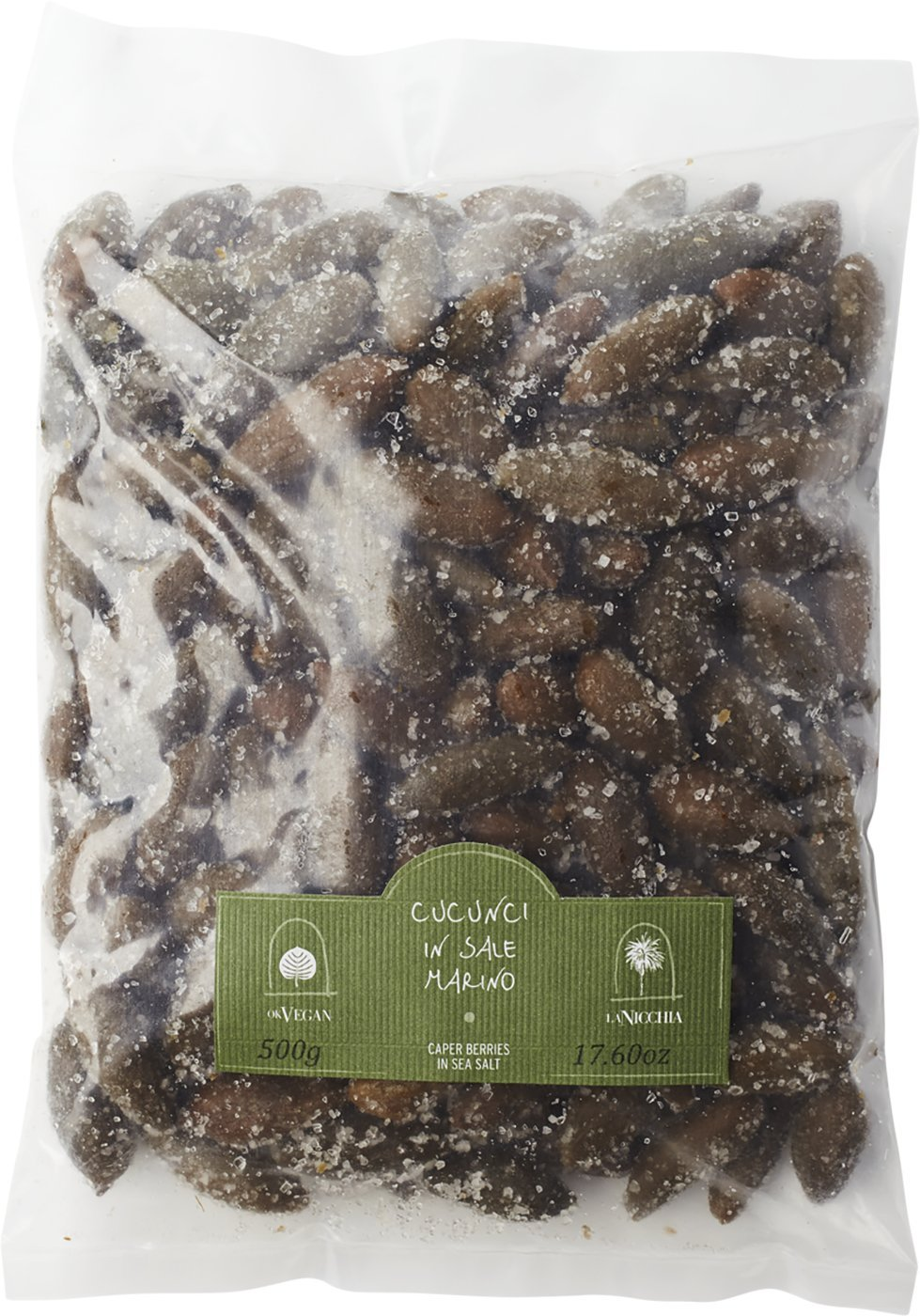 Caperberries Cucunci in Sea Salt - La Nicchia - Pantelleria Island, Sicily - 1.1 lb