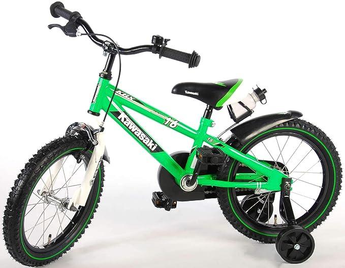 Kawasaki Bicicleta Infantil Niño Chico 16 Pulgadas Freno Delantero ...