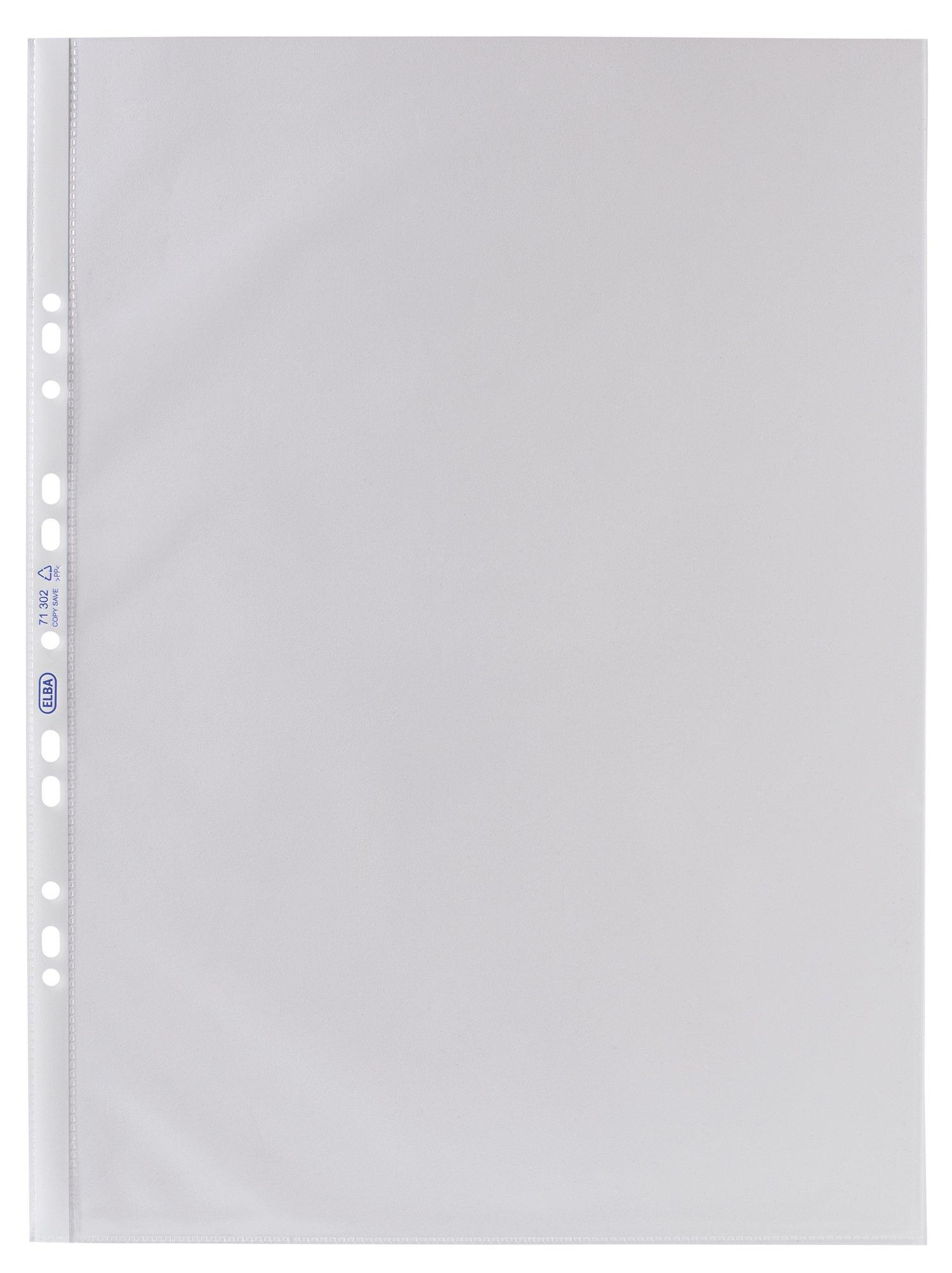 Elba Punched Pockets - Paquete de 25 portafolios de plástico, transparente product image