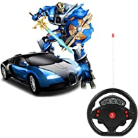 Super Toy Convertible Robot Transform Steering Car Toy for Kids (Multi Colour)