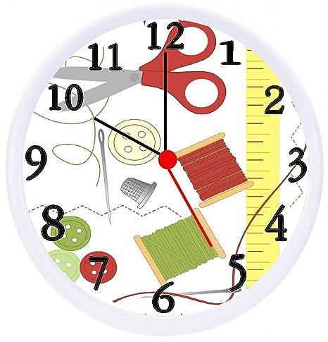 Amazon.com: Sewing Craft Room Wall Decor Clock: Sports & Outdoors