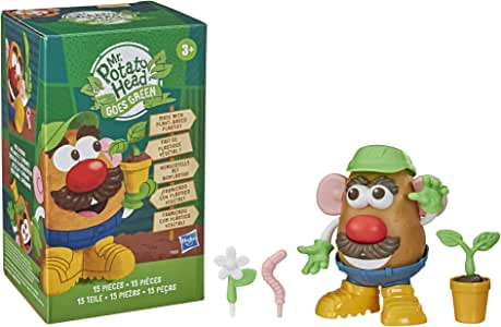 "Mr Potato Head Goes Green 5"" Toy - Made With Plant-Based Plastic And Fsc-Certified Paper Packaging - Kids & Toddlers Toys for boys, girls - Ages 3+ (Amazon Exclusive)"