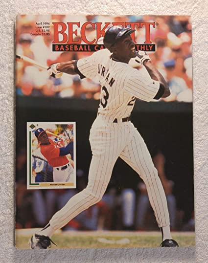 Michael Jordan Chicago White Sox Beckett Baseball Card