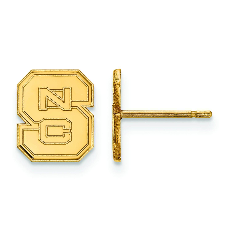 NC状態Extra Small (3 / 8インチ) ポストイヤリング(10 Kイエローゴールド)   B01IYEXLPY