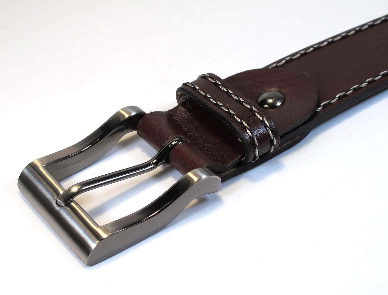 "Men/'s Geniune Leather Black Belt Long XL M S Thick Casual Jean Dress 1 1//2/"" Wide"