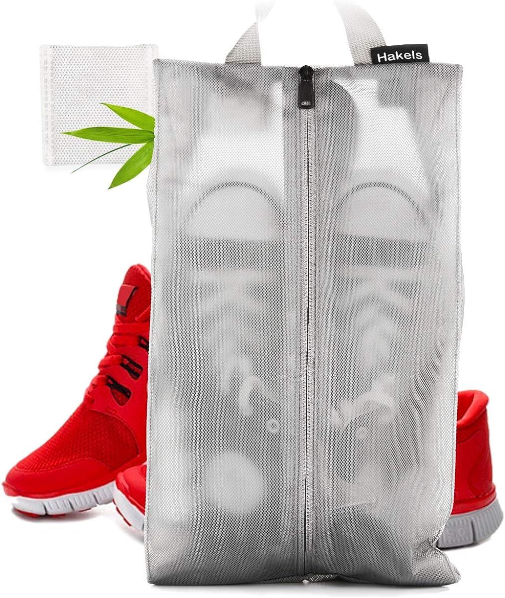 Shoe Bags for Travel, Odor Repellant Hygienic Luggage Packing Organizer, Water Resistant Sneaker Bag for Men & Women
