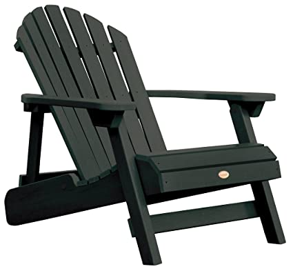 Highwood Hamilton Folding And Reclining Adirondack Chair, Adult Size,  Charleston Green
