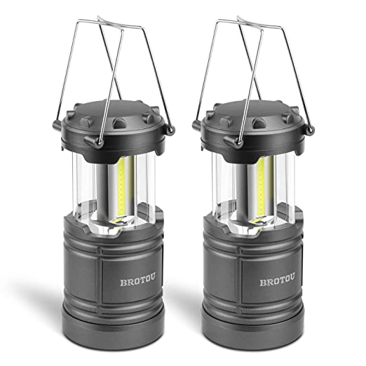 AOMEES LED Lantern COB Camp Lantern 2PCS Collapsible Tough Lamp for Camping Fishing Shed Festivals Lights