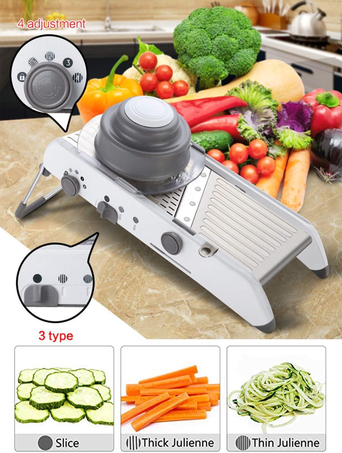 Mandoline Slicer Professional Vegetable Fruit Onion Cutter Chopper Grater Tool