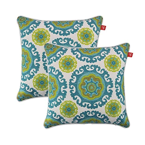 Beau PacifiCasual Set Of 2 Patio Indoor/Outdoor Decorative Throw Pillow Cover  Cushion Case For Replacement
