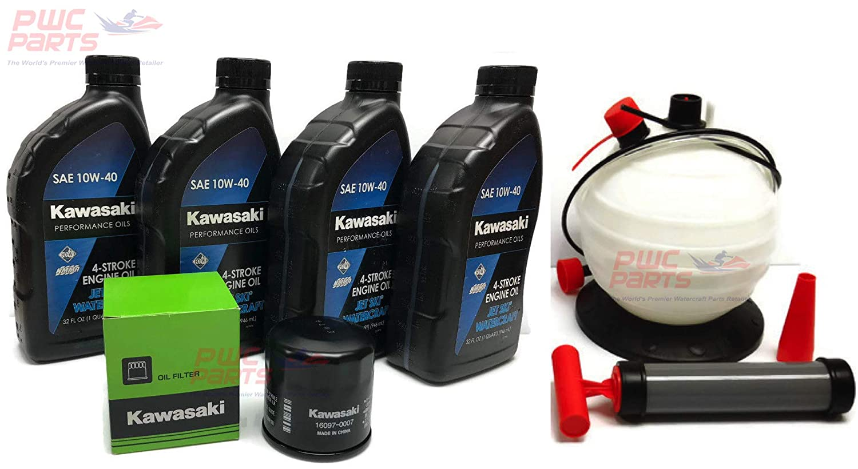 Amazon com: KAWASAKI Jet Ski Oil Change Kit w/OEM Filter