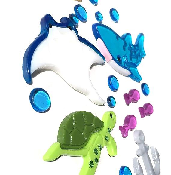 20 x 20 cm Stickers D/écoratif Autocollant Gel Gems color/és Outlook Design V2TSS0AK00 Dauphins Jouant