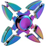 Hand Spinner Stress Relief Toy, coloré en alliage d'aluminium Spinner main Fidget Toy Réducteur de stress Made Bearing Focus Anxiety Relief Toys for Killing Time