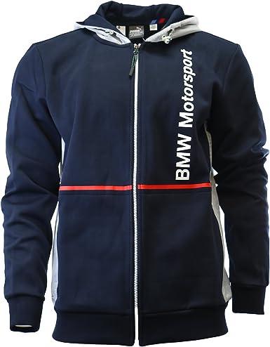 Puma BMW Motorsport Hoodie Fan Hooded Sweat Jacket - BMW Team Blue - Mens -  S