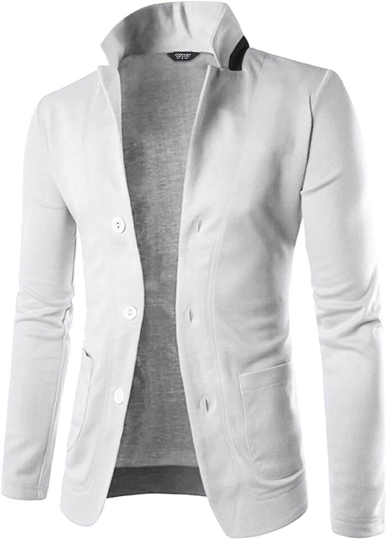 COOFANDY Mens Casual Slim Fit Blazer 3 Button Suit Sport Coat Lightweight  Jacket (Medium, White) at Amazon Men's Clothing store