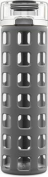 Ello Syndicate BPA-Free Glass 20-Ounce Water Bottle w/Flip Lid