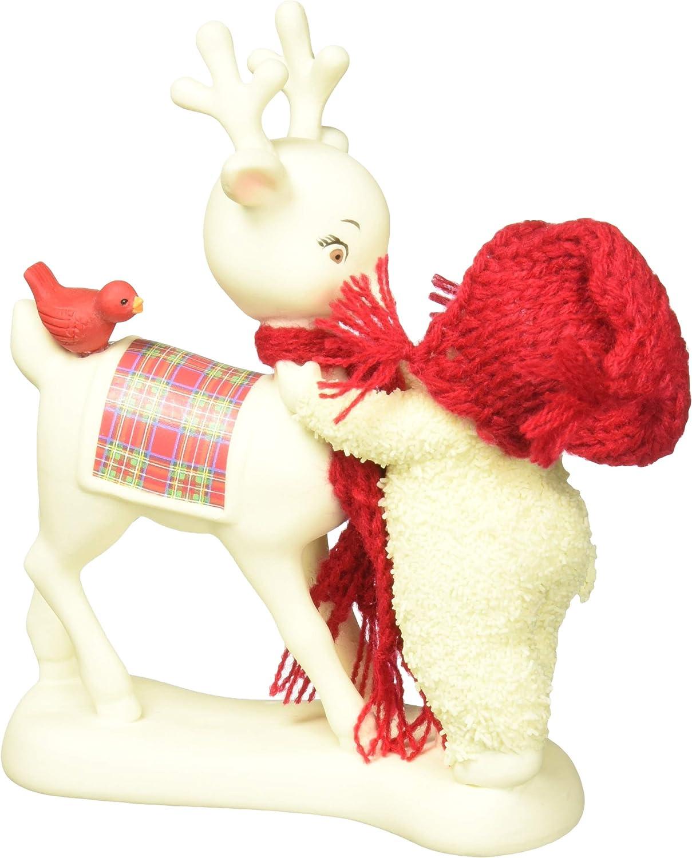 "Department 56 Snowbabies ""Reindeer Kisses"" Porcelain Figurine, 5"""