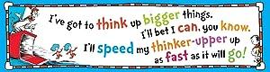 Eureka Dr. Seuss' Cat in the Hat Motivational Classroom Banner, 12'' x 45''