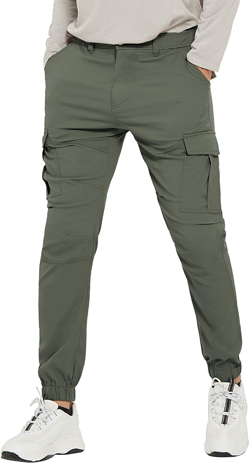 Men/'s Outdoor Quick-Dry Stretchy Waterproof Hiking Pockets Trousers Cargo Pants