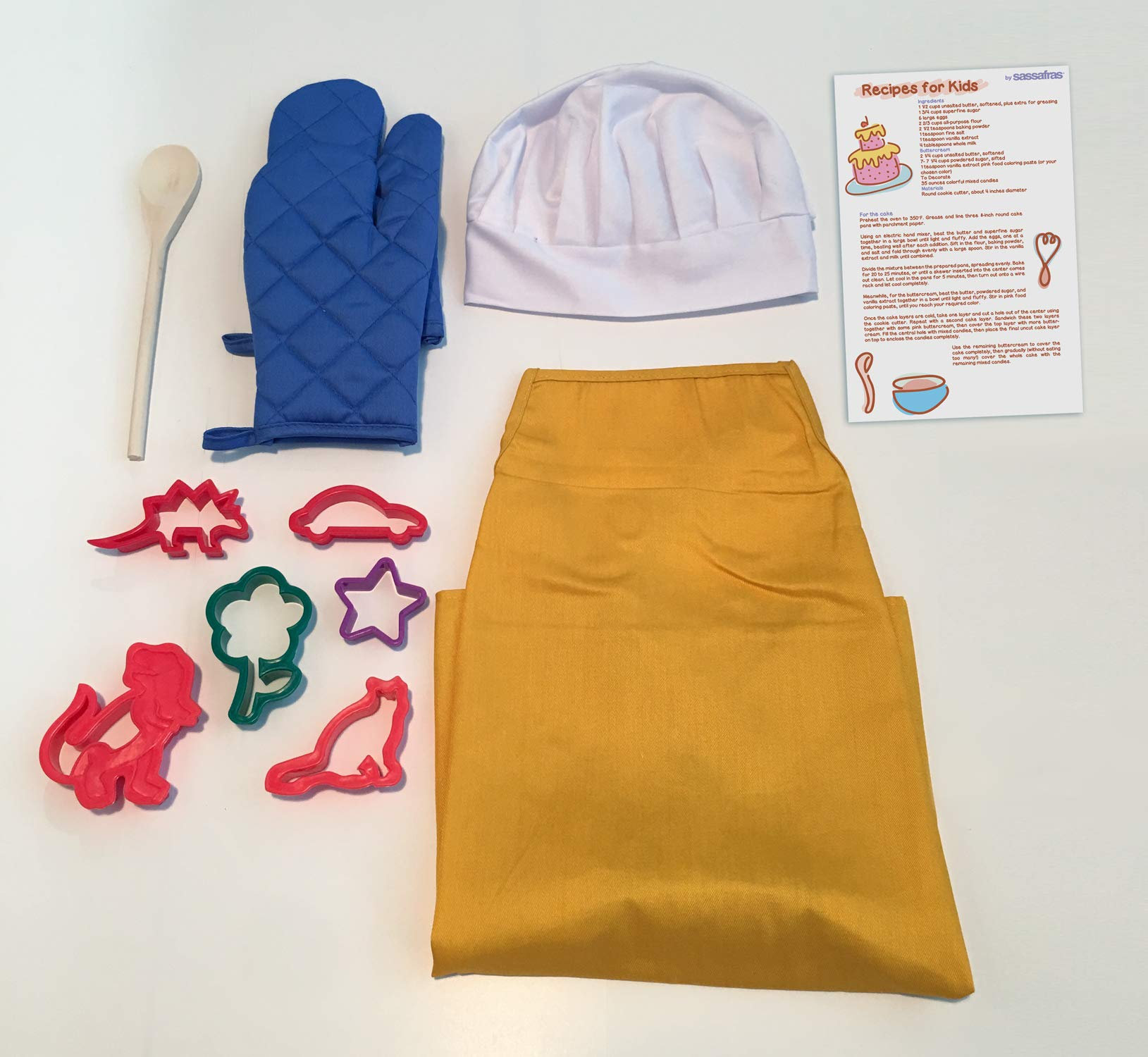 Little Cook Apron Set with BONUS Set of Cookie Cutters