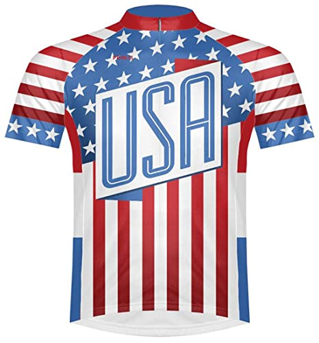 Primal Wear United States USA Flag Stars and Stripes Cycling Jersey Men s XL 95e436ec2