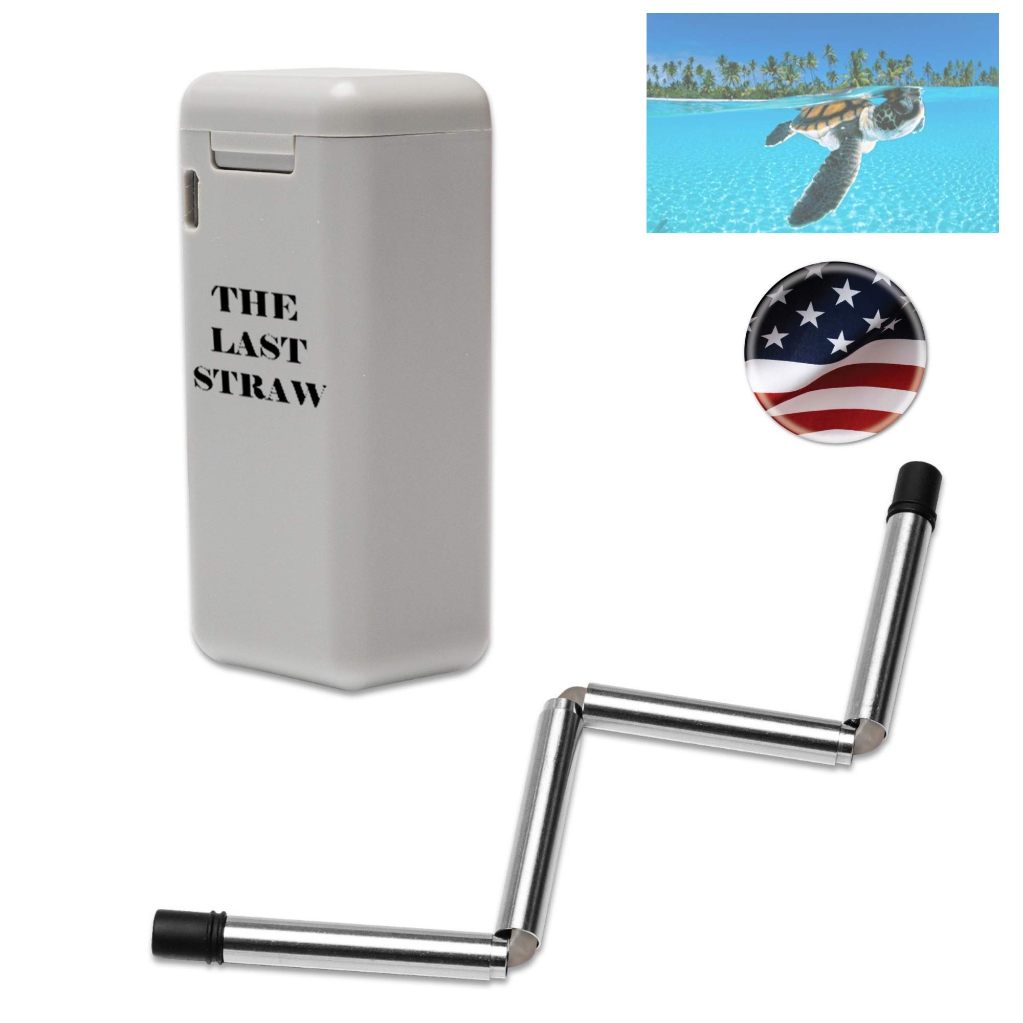 The Last Straw | Reusable Stainless Steel Collapsible Drinking Straw | BPA Free Medical Grade, Perfect for Everyday Use Yeti Tumbler Soda Coffee | Eco-Friendly Carrying Case with Cleaning Squeegee by The Last Straw