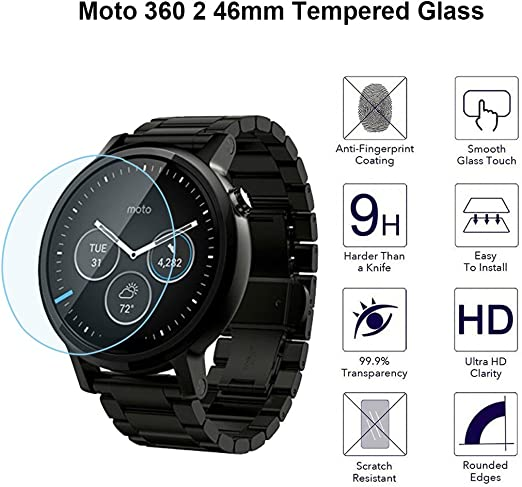 Motorola Moto 360 2 Protector de pantalla de cristal templado ...