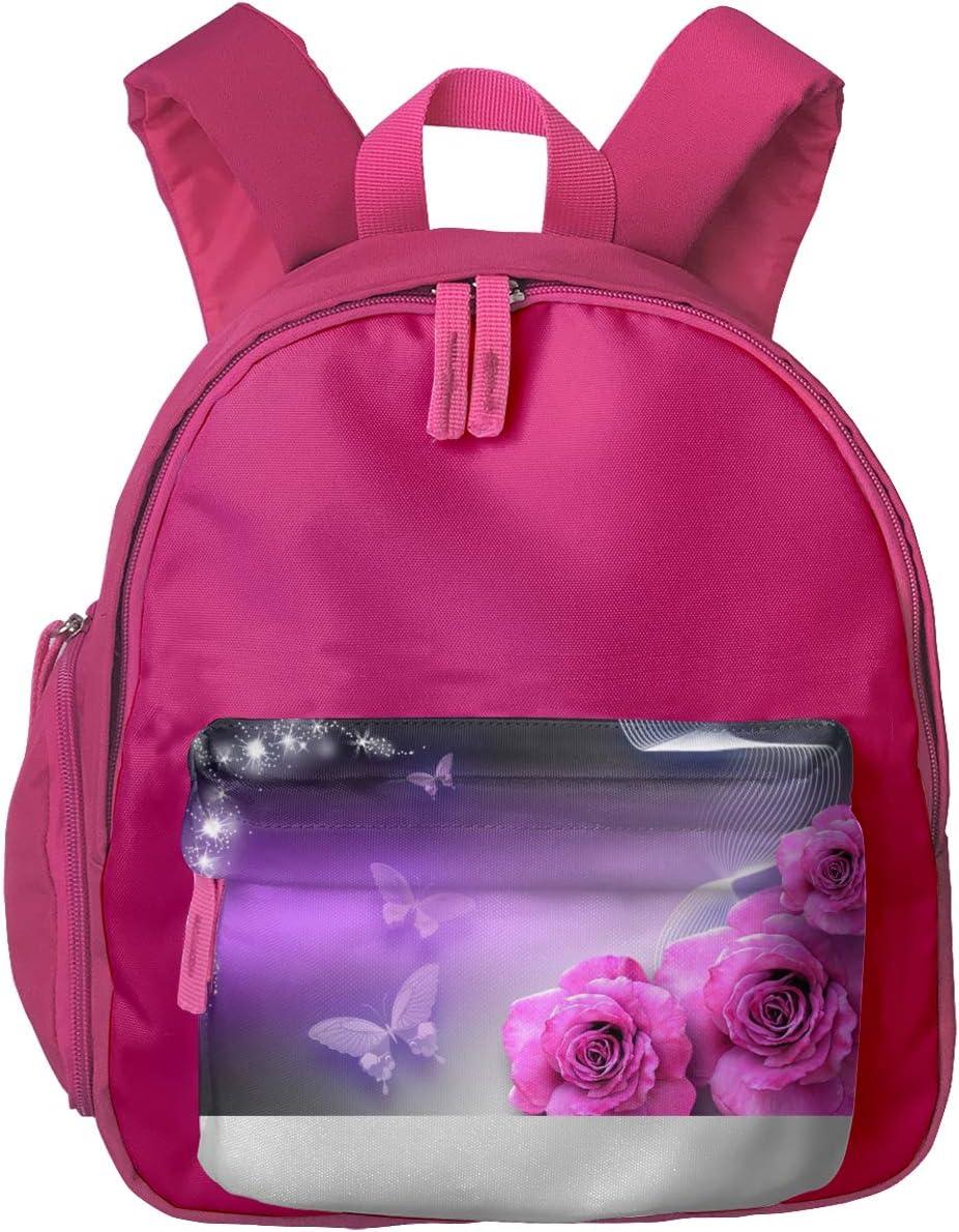 Pink Butterfly Kindergarten Girl Backpack Handbag Princess Bag Pink