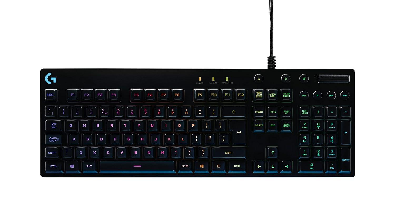 Logitech G810 Mechanical Gaming Keyboard Orion Spectrum with RGB, QWERTY, Layout UK English - Black