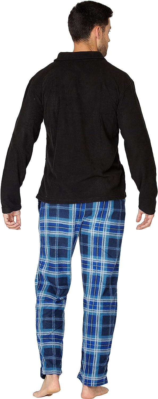 INTIMO Zip Top Fleece Pajama Set Juego de Pijama para Hombre