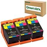 GREENARK Compatible for Dell Series 21 Color Ink Cartridges Use for Dell V313w V515w P513w V715w P713w Printers 3 Pack Color