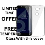 Popio® Soft Silicone TPU Jelly Crystal Clear Case Soft Back Case Cover for Tenor 10.or E -Transparent (Transparent)