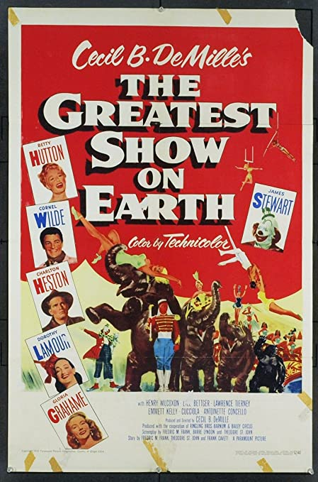 The Greatest Show On Earth (1952) Original Movie Poster at Amazon's  Entertainment Collectibles Store