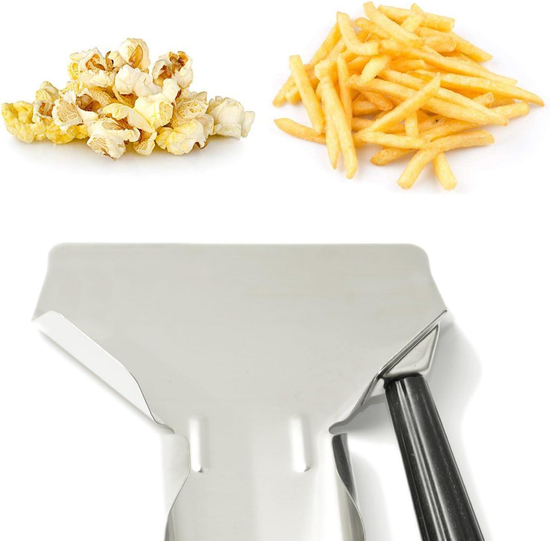 French Fries Shovel Stainless Steel Utensils Home Kitchen Tools Desserts Thickened Non-Slip Bagger Snacks Popcorn Scoop 2