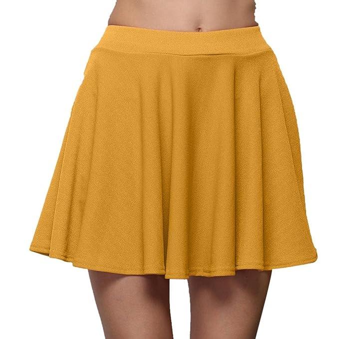 FAMILIZO Faldas Cortas Mujer Verano Faldas Tubo De Moda Faldas Tul Mujer  Faldas Altas De Cintura Faldas c48736173279