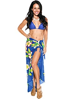 5e39e4b33a281 1 World Sarongs Womens Hawaiian Swimsuit Cover-Up Sarong in Your Choice of  Color