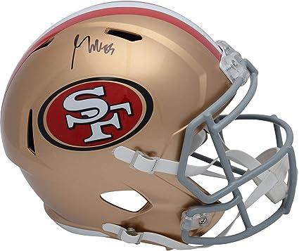 b5770d2ec George Kittle San Francisco 49ers Autographed Riddell Speed Replica Helmet  - Fanatics Authentic Certified