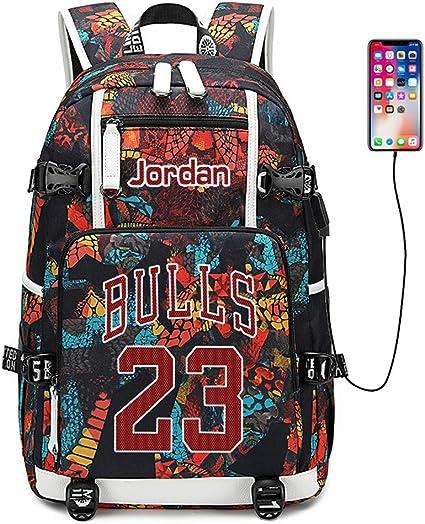 Lorh's store Joueur de Basket Ball Star Michael Jordan Sac à Dos Multifonction Voyage étudiant Sac à Dos Fans Bookbag pour Hommes Femmes