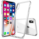 Whew iPhone X ケース iPhone XS ケース 超薄型 全透明 クリア カバー TPU シリコンケース 全面保護 耐衝撃 指紋防止 黄変防止 ワイヤレス充電対応(クリア)