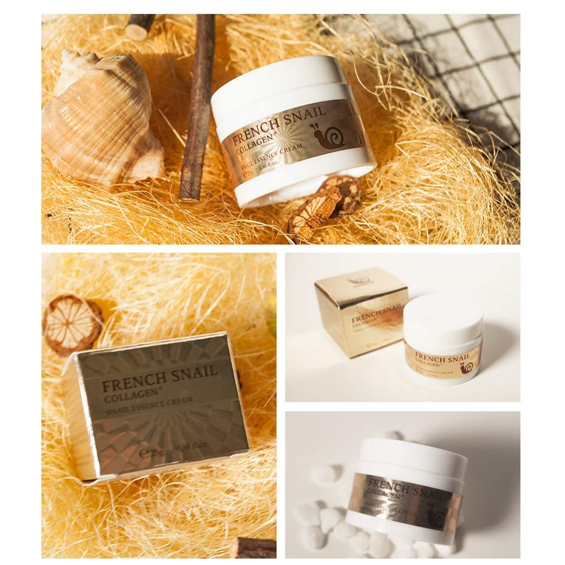 Loweryeah Snail Repair Anti-aging Cream 25g Collagen Moisturizing Nourish Repair Damaged Face Care Hyaluronic Acid Cream by Loweryeah (Image #6)