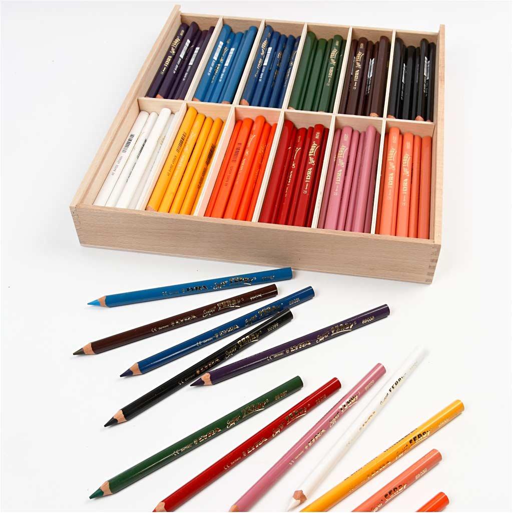 Super FERBY 1 Buntstifte, 6,25 mm Mine, L 18 cm, cm, cm, Auswahl von Farben, 144ud B01N7DNX1F | Elegantes Aussehen  c88ca3