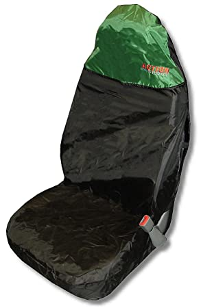 Action Sport Car Seat Protector Front   Green/Black