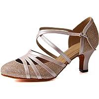 Syrads Zapatos de Baile Latino para Mujer Danza