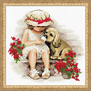 """RIOLIS Counted Cross Stitch Kit-Sweet Tooth-11¾ x 11¾"""" Zweigart 14 ct. White AIDA 19 Colors #1333"""